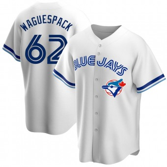 Replica Toronto Blue Jays Jacob Waguespack Home Cooperstown Collection Jersey - White