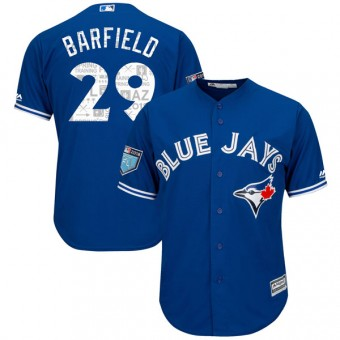 Youth Authentic Toronto Blue Jays Jesse Barfield Majestic Cool Base 2018 Spring Training Jersey - Royal
